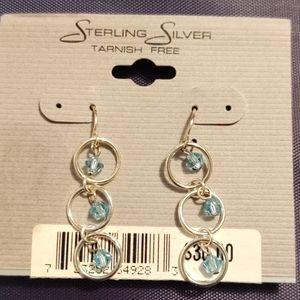 Sterling Silver Geometric Earrings